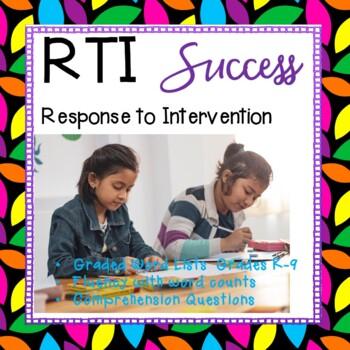 RTI benchmark & progress tool kit