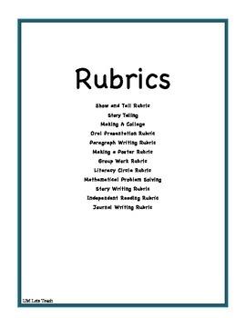 RUBRICS Galore