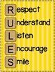 RULES Acronym Poster {Sunshine Yellow Stripe}
