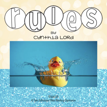 Rules by Cynthia Lord, novel study/close reading study - C