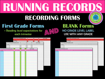 RUNNING Records Forms ~ 3 Colors