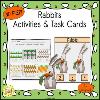 Rabbits Count and Clip Task Cards