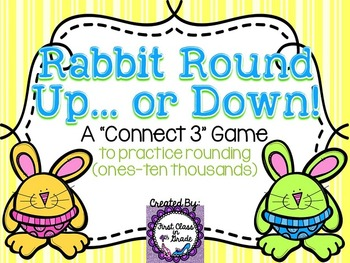 Rabbit Round Up... or Down! (Rounding Numbers Ones-Ten Tho