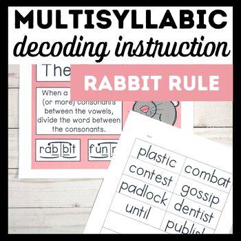 Rabbit Rule Book 1-Multisyllabic Word Study