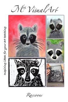 Raccoons - art lesson