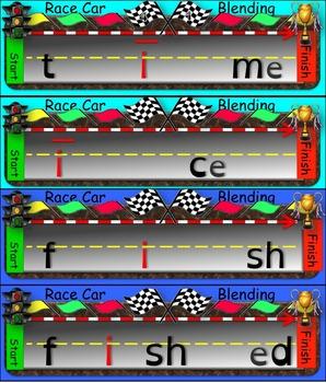 Race Car Blending (Long a, e, i, and u)