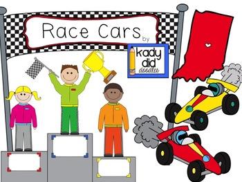 Race Car Clipart by Kady Did Doodles