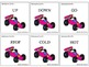 Race Car Synonyms and Antonyms Level 1