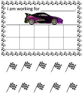Race Car Token Board