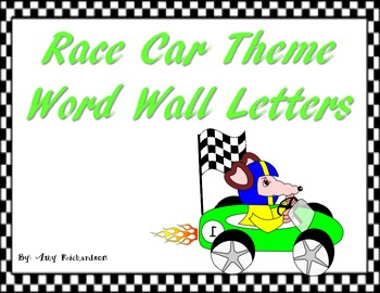 Race Car Word Wall Letters