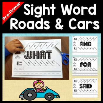 Sight Words Kindergarten with Cars and Parking Lots {40 Words!}