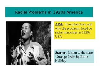 Race Relations 1920s America