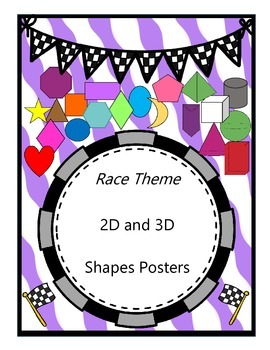 Race Theme - Shapes {2D and 3D}