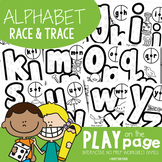 Alphabet Race and Trace Worksheets - Spin, Read and Write