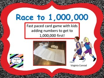 Race to 1,000,000 Card Game---Fast Paced and Fun