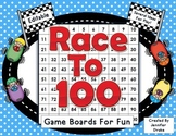 Race to 100!  Editable Game Boards For Numbers to 100 Fun!