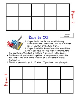 Race to 20 - Number Sense Game