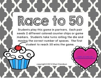 Race to 50 {Valentine edition}