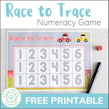 Race to Trace - Numeral Recognition and Formation Game - QLD FONT