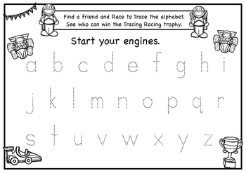 Race to Trace the Alphabet