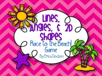 Race to the Beach!  Lines, Angles, & 2D Shapes Game