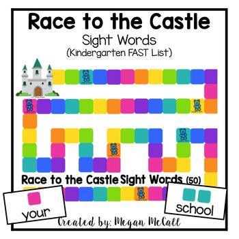 Race to the Castle-Sight Words (Kindergarten FAST)