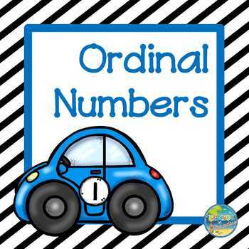 Ordinal Numbers--Race to the Finish