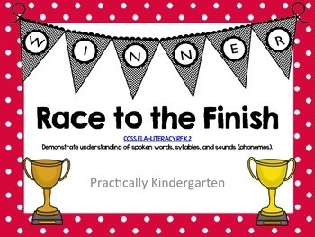 Race to the Finish - read and change CVC words to make new
