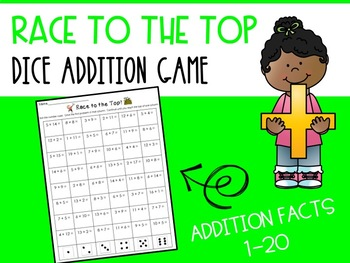 Race to the Top! Addition Game FREEBIE