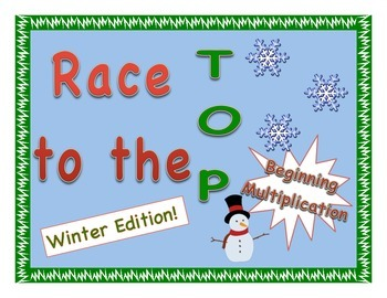 """""""Race to the Top"""" No-Prep Early Multiplication Game - Wint"""