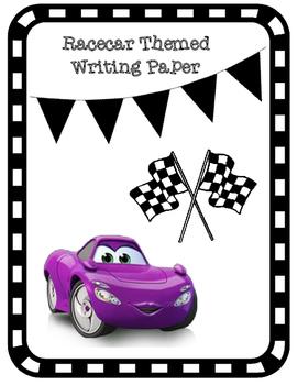 Racecar Themed Writing Paper
