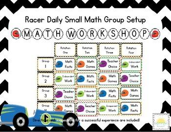 Racer/ Racercar Themed Classroom Small Group Math Center/