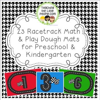 Racetrack Printable Math & Play Dough Mats for Preschool a
