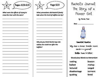 Rachels Journey The Story of a Pioneer Girl Trifold - Jour