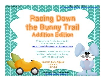 Racing Down the Bunny Trail: Addition Game
