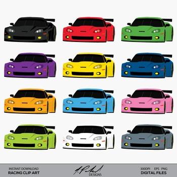 Racing GT Car Clip Art - Le Mans Endurance Racecar Clip Ar