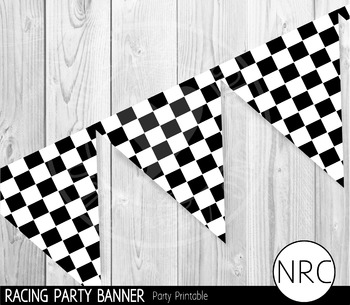 Racing Party Banner - Party Printable