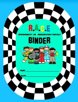 Racing {Race Track} Binder Cover
