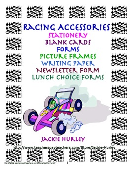 Racing, Racing, Racing: Racing Accessories Forms, Frames,