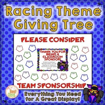 """Racing Theme """"Giving Tree"""""""