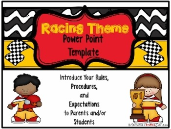 Racing Theme Parent Information Night Power Point Template