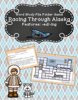 Racing Through Alaska Word Study File Folder Game (Adding