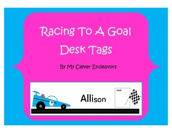 Racing to a Goal Name tags