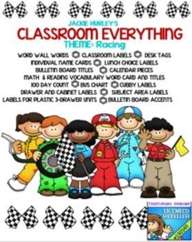 Racing, Racing, Racing   Beginning of School Everything! August!