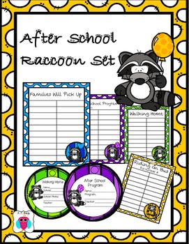 Raccoon After School Transportation Pack