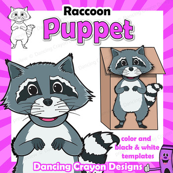 Raccoon Craft Activity | Paper Bag Puppet Template