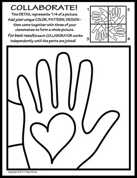 Radial Symmetry COLLABORATIVE KINDNESS Activity Coloring P