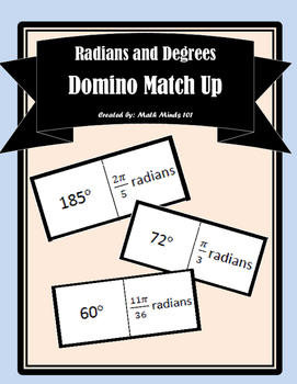 Radians and Degrees - Dominoes Match