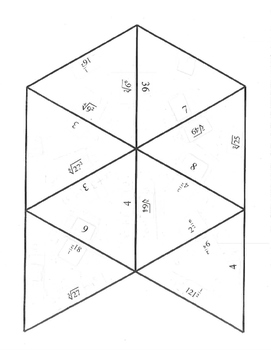 Radical Exponent form puzzles