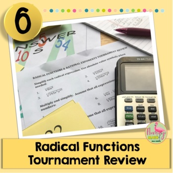 Algebra 2: Radical Functions Tournament Review Activity